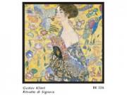 Gustav klimt ritratto signora cm. 68x68 stampa arte affiches