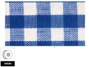 Nastro quadretti blu e bianco largo mm.25 lungo 25 metri