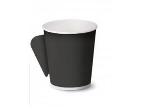 Bicchieri cartoncino nero pz.50 con manico cc 125