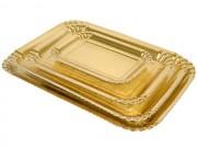 Vassoi cartone oro cm.24x16,8 kg.5