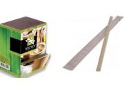 Paletta caffe' legno pz.1000 imbustata con dispenser cm.11,4