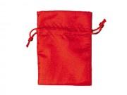 Sacchetto seta satinata rosso cm. 9x12 pz.10