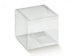 Bomboniera portaconfetti scatola trasparente mm 40x40x40
