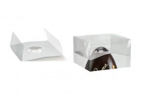 Blocca uovo in pvc trasparente pz.10 mm.210x210xh50