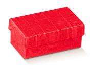 Scatole regalo cartone rosso mm 220x160x40 trama effetto seta