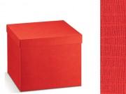 Scatola cartone seta rosso mm. 380x260x110