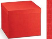 Scatola cartone seta rosso mm. 455x320x110