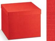 Scatola cartone seta rosso mm. 490x340x340