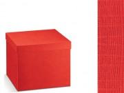 Scatola cartone seta rosso mm. 300x300x240