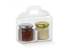 Scatola trasparente valigetta c/manico mm.180x90x100 pz.10