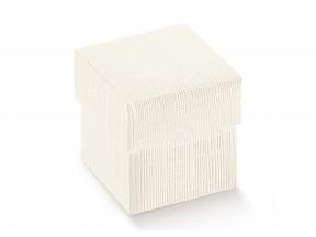 Scatole regalo cartone bianco mm 140x140x40 pz.10