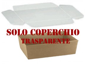 Coperchio trasparente mm 290x210 per vassoio conico 35404