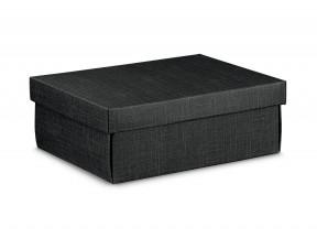 Scatole regalo cartone nero mm 300x230x110 trama effetto seta