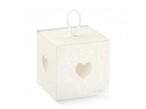 Scatole portaconfetti nozze mm100x100x100harmony bianco