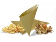 Coni per fritti in carta paglia cm.20x21 pz.100