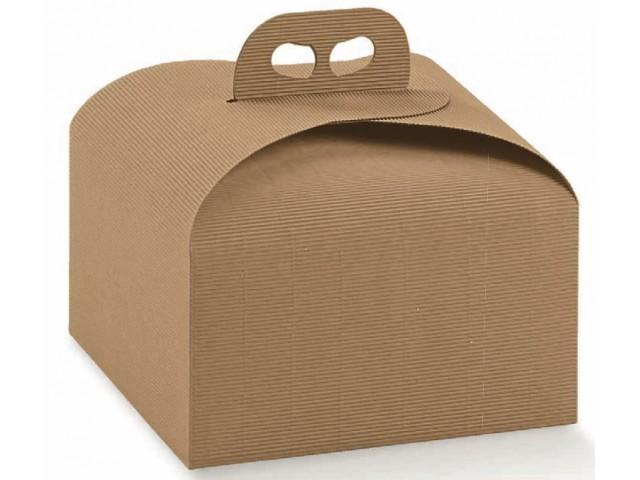 Porta panettone onda avana mm 245x245x130 scatole per - Scatole porta panettone ...