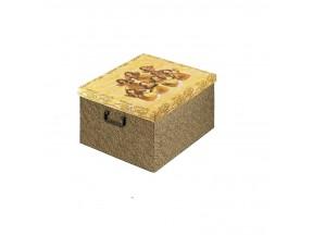 Scatole natale regalo mm.400x460x230 con manici plastica angeli