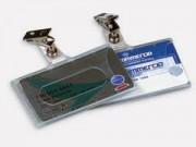 Portabadge con clip mm. 90x56 pz. 10