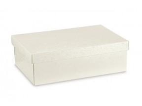 Scatola cartone sfere bianco mm 455x320x100