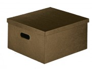 Scatola cartone con fori pelle marrone mm 400x600x250