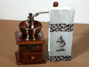 Sacchetti per gr.500 caffe' mm.100x290 vendita a kg.