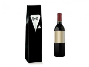 Scatola  per 1 bottiglia smoking mm.90x90x370 pz.10