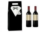 Scatole per 2 bottiglie smoking mm.180x90x385 pz.10