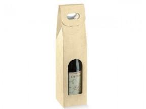 Scatola per 1 bottiglia tela neutro  mm.90x90x350 pz.10