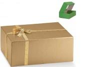 Scatola cartone seta oro marmotta mm 300x400x145
