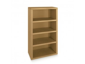 Libreria in cartone avana mm 700x350x1600