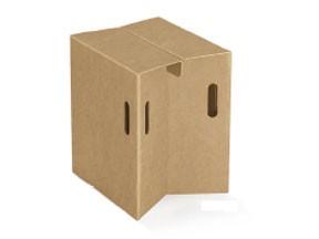Sgabello cartone pieghevole con maniglia  cm 340x285x440