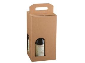 Scatola per 4 bottiglie avana mm.180x180x340 pz.10