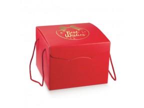Scatole natale regalo mm 245x245x180 con manici cordino