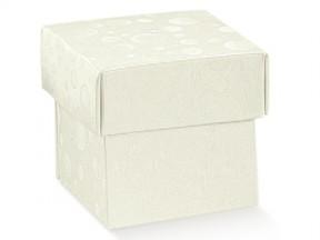 Scatola cartone sfere bianco mm 220x160x40