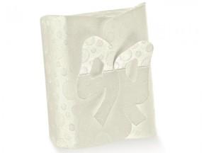 Scatola cartone sfere bianco chiusura fiocco mm.240x210x60 pz.10