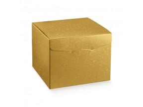 Scatola cartone sfere oro segreto mm 220x220x230