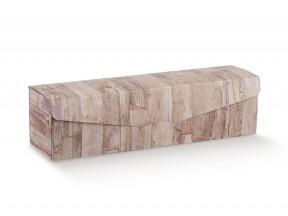 Scatola portabottiglia da 1,5 litri wood mm.430x115x115