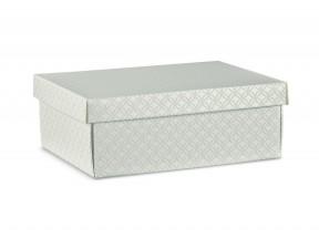 Scatole regalo cartone grigio matelasse' mm.340x250x120