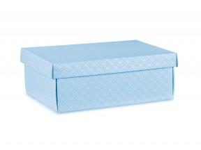 Scatole regalo cartone azzurro matelasse' mm.455x320x150