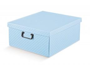 Scatole armadio azzurro matalasse' mm 420x470x210 con manici