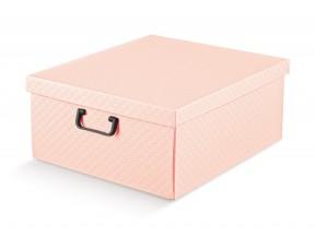 Scatole armadio rosa matalasse' mm 420x470x210 con manici