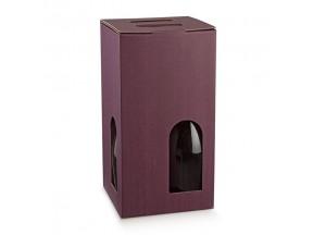 Scatole portabottiglie per 4 bott.mm.180x180x340 vinaccia