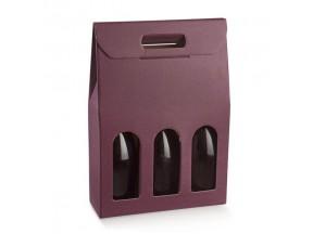 Scatole portabottiglie per 3 bott.mm.270x90x385 vinaccia