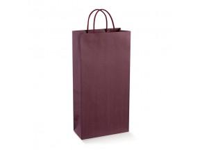 Sacchetti shopper porta 2 bottiglie mm.190x90x380 vinaccia