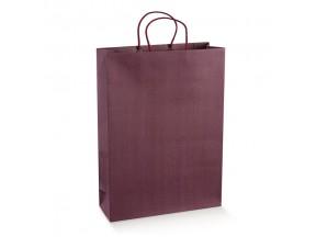 Sacchetti shopper porta 3 bottiglie mm.275x95x380 vinaccia