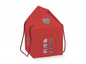 Scatola casetta rossa_mm.200x200x180 con manici cordoncino