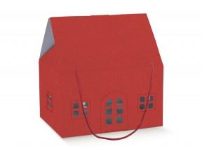 Scatola-casetta-rossa_mm.330x250x190 con manici cordoncino