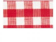 Nastro quadretti rosso e bianco largo mm.25 lungo 25 metri
