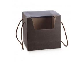 Scatole panettone con coperchio trasparente mm.210x210x210