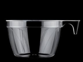 Tazze cappuccino trasparente cc 210 pz.25